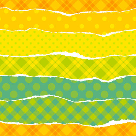 Torn wrapping paper  Seamless vector vibrant pattern