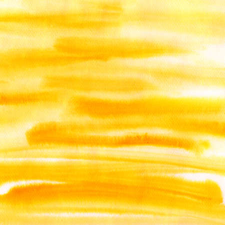 Orange watercolor striped background, scanned in high resolution photo