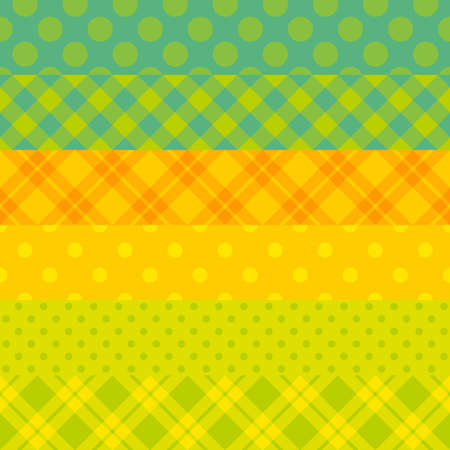 Seamless vector vibrant stripped pattern  Green and yellow colors  Stock Vector - 12978604