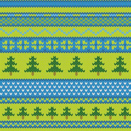 소나무와 벡터 원활한 니트 패턴