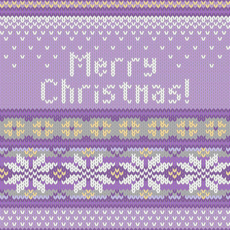 spruce thread: Vector seamless knitted pattern with snowflakes