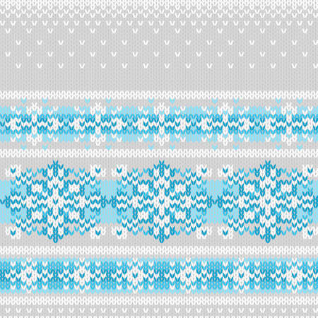 seamless background with snowflakes, imitation jacquard knitting Vector
