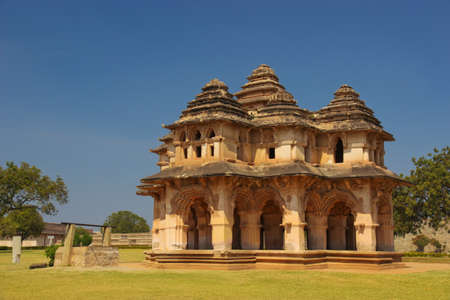 architectural survey: Lotus Mahal in Hampi, state Karnataka, India Stock Photo