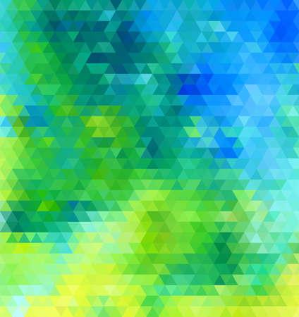블루 그린 추상 형상 원활한 패턴 벡터 일러스트
