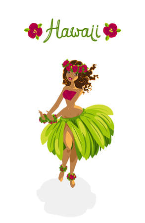 美しいポリネシア少女 - フラ ・ ダンサー