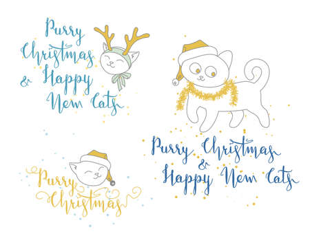 Humorous Christmas And New Year Greetings With Cute Kittens ...