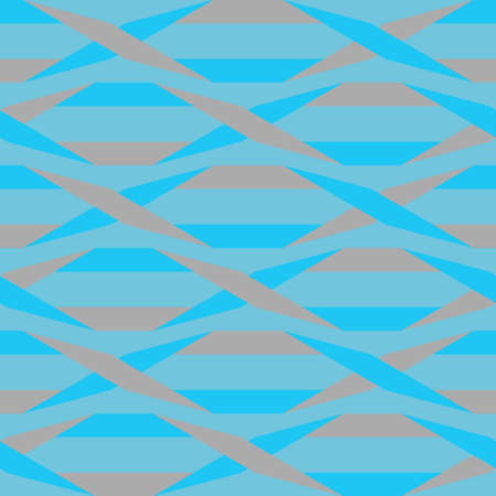 Origami. Seamless blue and grey simple geometric pattern