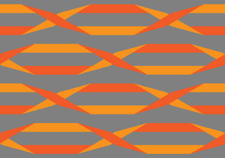 Origami. Seamless red and orange simple geometric pattern