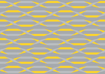 Origami. Seamless yellow and grey simple geometric pattern