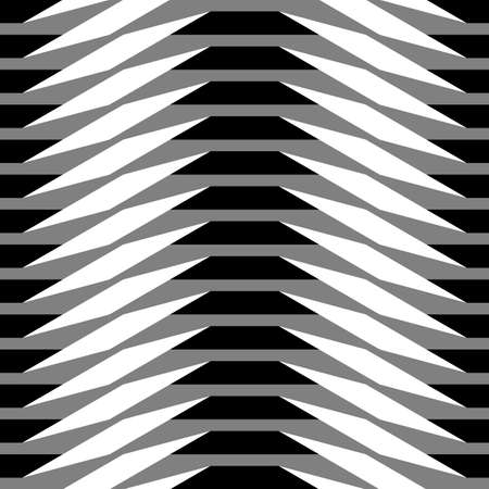 Origami. Seamless black and white simple geometric pattern Illustration