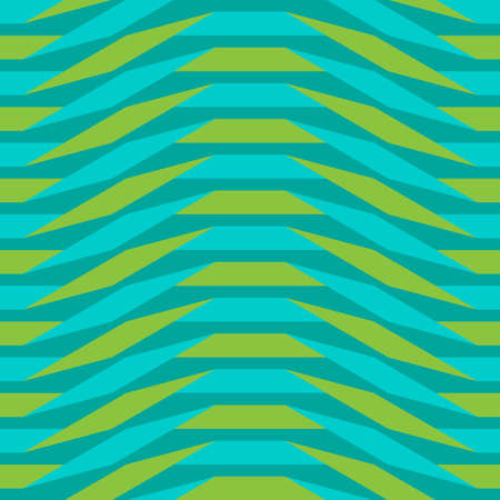 Origami. Seamless blue and green simple geometric pattern