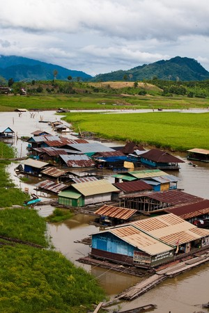 floating town, Thailand photo