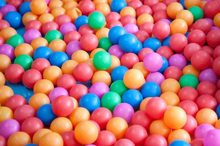 playcentre: Colorful balls  Stock Photo