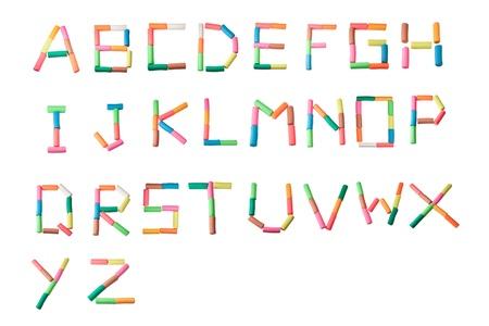 Play dough alphabet letters all set photo
