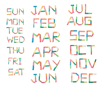 january 1st: play dough day and month set of calendar