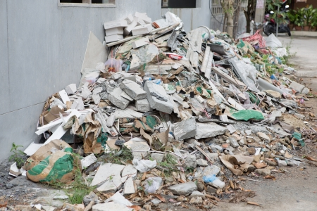 heap of scrap from home building