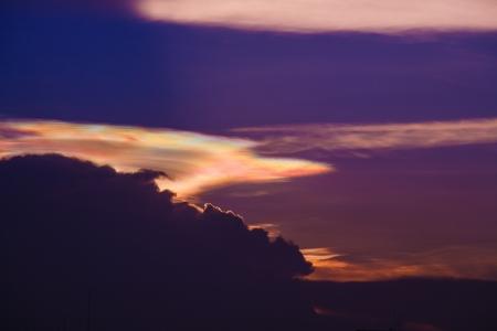 iridescent: iridescent pileus cloud