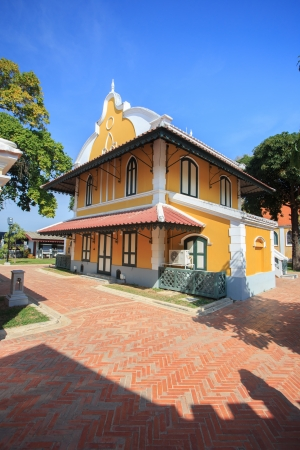 grand pa: Wat Niwet Thammaprawat ,Thai Temple in the style of an English Gothic church Stock Photo