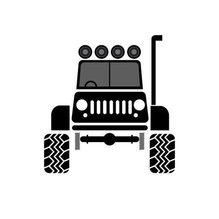 offroad: vector illustration Off-Road vehicle