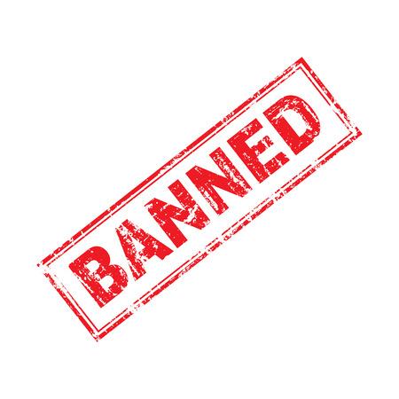 stamp word Banned grunge style illustrator