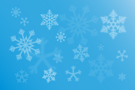 backgroud: abstract backgroud with magic bokeh and snowflake Illustration