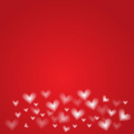 backround: white hearts on red backround