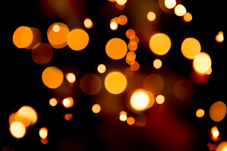 Abstract circular bokeh background candle light de focused photo