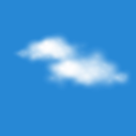 climatic: vector of  realistic clouds EPS10 easy to change cloud shape