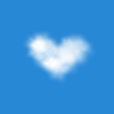 climatic: vector of  realistic heart shape  clouds EPS10