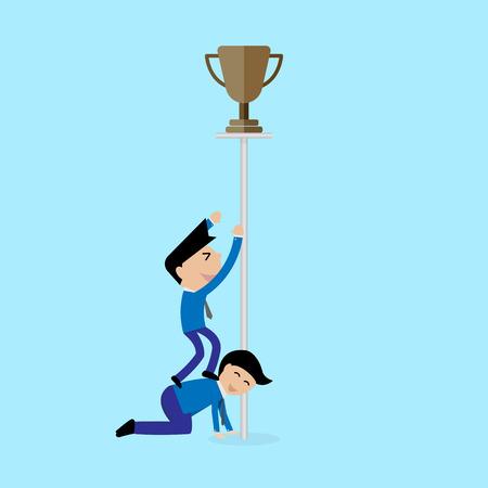 essayer: affaires essayer d'obtenir concept troph�e Vecteur