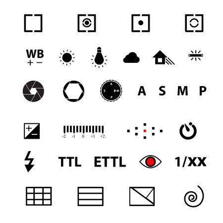 golden ratio: camera menu function symbol Vector Illustration