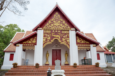 architech: NAN,THAILAND July 28: Wat Phra That Khao Noi Places of worship and temple on July 28,2015. Nan,Thailand. Editorial