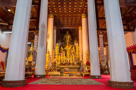 architech: NAN,THAILAND July 29: Wat Phra That Chae Haeng Places of worship and temple on July 29,2015. Nan,Thailand.