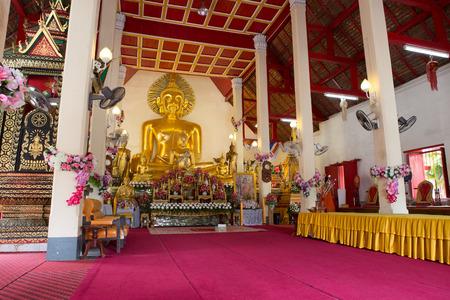 places of worship: NAN,THAILAND July 29: Wat Phraya Phu Places of worship and temple on July 29,2015. Nan,Thailand.