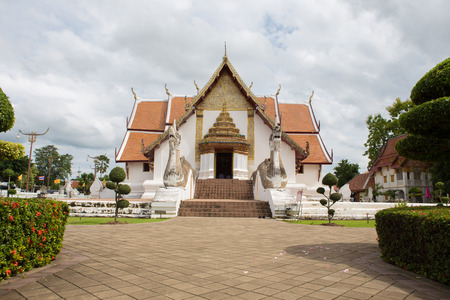 architech: NAN,THAILAND July 29: Wat Phumin Places of worship and temple Buddhist monastery that is really unique northern architecture on July 29,2015. Nan,Thailand.