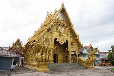 architech: NAN,THAILAND July 29: Wat Sri Panton Places of worship and temple on July 29,2015. Nan,Thailand.
