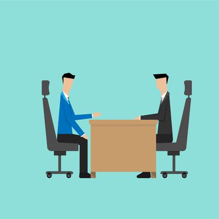business discussion: discusi�n de negocios o el uso de la entrevista de trabajo Vectores