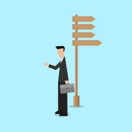 decision: business consultant guide the new way to go making decision concept