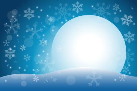 snow flake: blurred snow flake with fullmoon background