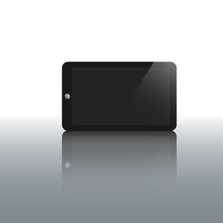 blank tablet: tablet blank screen display- vector