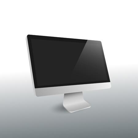 screen display: modern desktop computer wide screen display vector Illustration