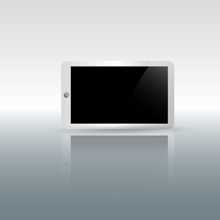 display: tablet blank screen display- vector