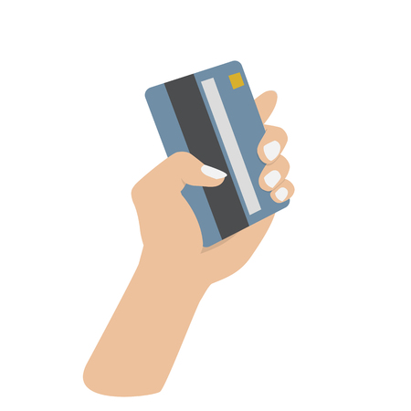holding credit card: hand holding credit card on white background