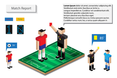 match: hilight match report infographic Illustration