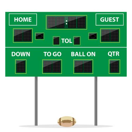 American-Football-Digital-LED Dot Anzeiger mit Kugel