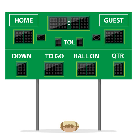 American football Digital LED Dot scoreboard with ball