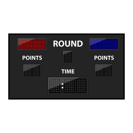 led: boxing game led empty scoreboard Illustration