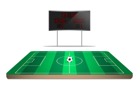 mini soccer field with scoreboard