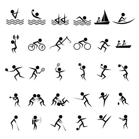 set of official summer  sports icon