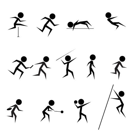 athletics: set of athletics icons